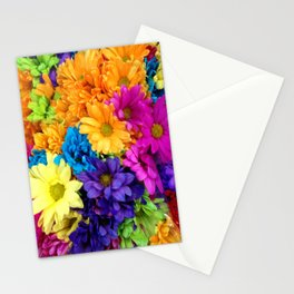 Neon Flowers at market Stationery Cards