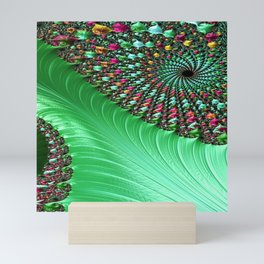 Carnival Green Mini Art Print
