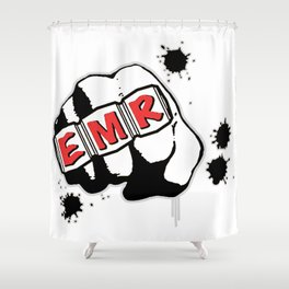 EMR Crew Tee Original Logo Tee Shower Curtain