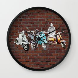 Twiggy at the Scooter Rally Wall Clock