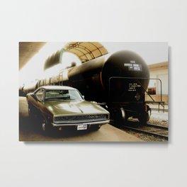 1968 Dodge Charger R/T - Tank Car Metal Print