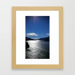 (#22) The Morning Sun reflects off The Columbia Framed Art Print