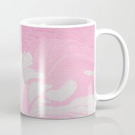 Soft Pink Marble with Cream Swirls Coffee Mug