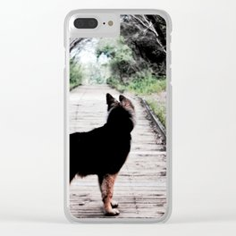 A Puppy's Adventure Clear iPhone Case