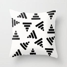Pyramid White Throw Pillow