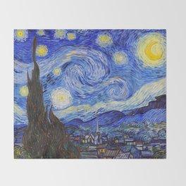 "Vincent Van Gogh "" Starry Night "" Throw Blanket"