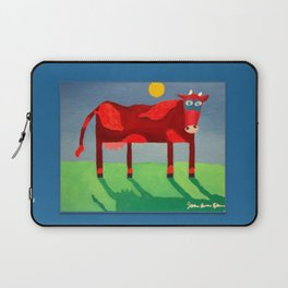Udderly Confused - Funny Cow Art Laptop Sleeve