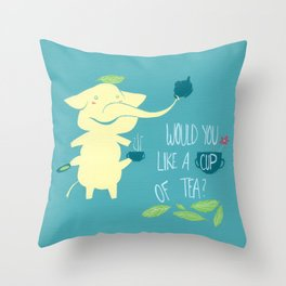 Mr. Pho & Tea Leaves Throw Pillow