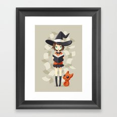 Little Witch 2 Framed Art Print