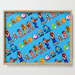 Retro gaming heroes | rgh01bs | vintage video games nostalgia Serving Tray