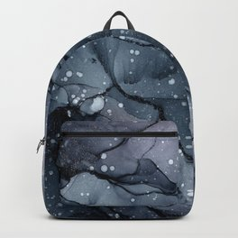 Blush and Gray Flow Abstract 1 Backpack