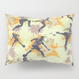Vintage flower football Pillow Sham