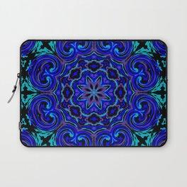 Bright Blue Kaleidoscope Laptop Sleeve