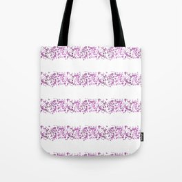 Modern abstract violet purple watercolor geometrical stripes Tote Bag