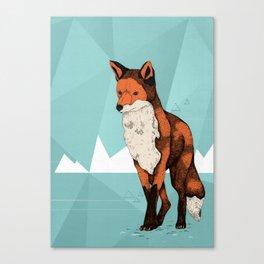 Ice Fox  Canvas Print