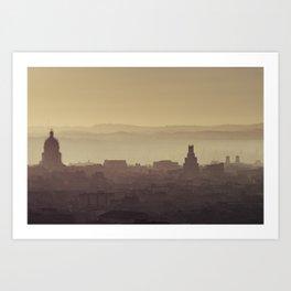 Bright Dawn in Havana Art Print