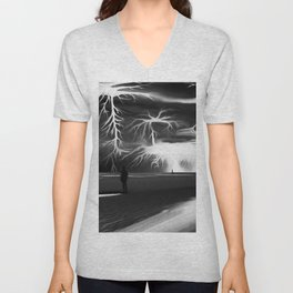 Storm (Digital Art) Unisex V-Neck