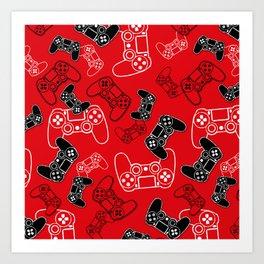 Video Games Red Art Print