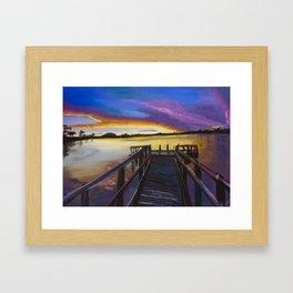 Shelley Bridge Sunset Framed Art Print