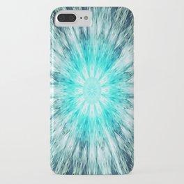 Teal Blue Mandala iPhone Case