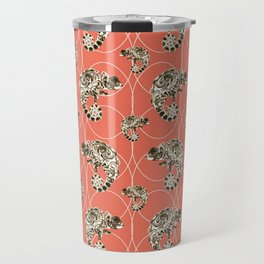 Chameleon Oneness in Midnight Vintage Psychedelic Salmon Space Travel Mug