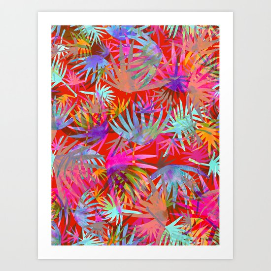 Tropicana - Red Art Print