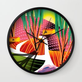Sunset Curve Wall Clock