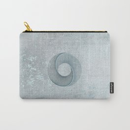 Geometrical Line Art Circle Distressed Teal Carry-All Pouch