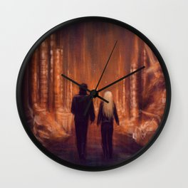 Everything We Need Is Right In Front Of Us Wall Clock