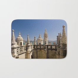 ornamental turrets in the Torre de Belem, Lisbon Bath Mat
