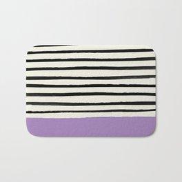 Lavender x Stripes Bath Mat