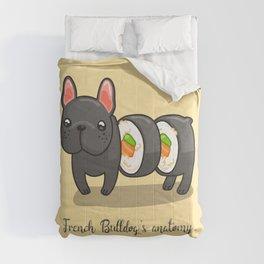 French bulldog maki sushi Comforters