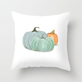 Colorful pumpkin trio Throw Pillow