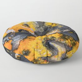 Earth treasures - patters of yellow and orange jaspis Floor Pillow