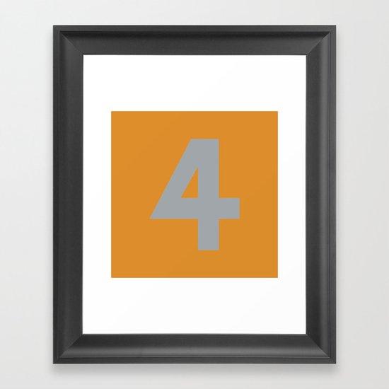 Number 4 Framed Art Print