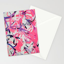 Pink & Purple Paint Drools Stationery Cards