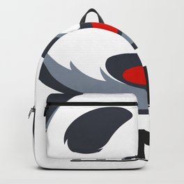 PANDA HELLO WORLD funny design Backpack