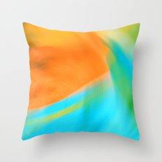 orange & turquoise (abstract) Throw Pillow