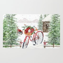 Winter Bicycle Rug