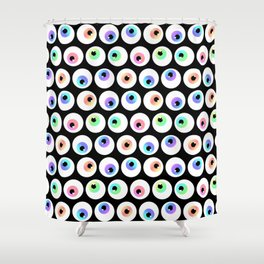 Lovely Sparkly Rainbow Eyeballs Shower Curtain