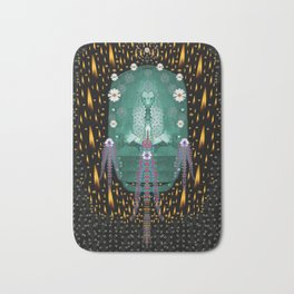 Temple of yoga in light peace and human namaste style Bath Mat