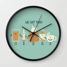 Flu Fighters Wall Clock