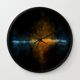 Istanbul City Skyline Hq v4 Wall Clock