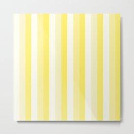Linear yellow Metal Print