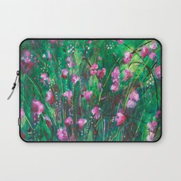 """WOODLAND SPRING"" Original Painting by Cyd Rust Laptop Sleeve"