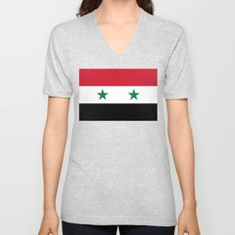 National flag of Syria Unisex V-Neck