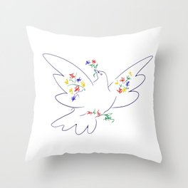 Picasso's Dove Throw Pillow