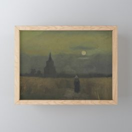 Vincent van Gogh - The Old Tower at Dusk Framed Mini Art Print