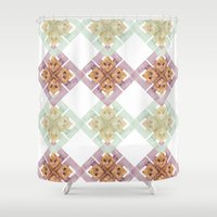 clover Shower Curtains featuring Clover by Wood + Ink