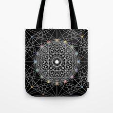 Geometric Circle Black/White/Colour Tote Bag